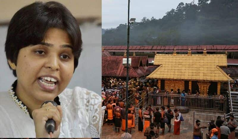 Trupti Desai Kerala government funding private activity praying Sabarimala