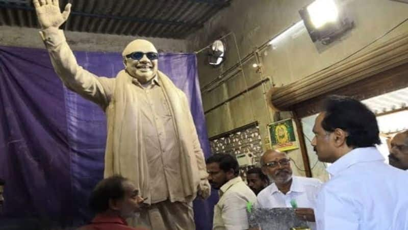 Karunanidhi statue at DMK headquarters to be unveiled in December