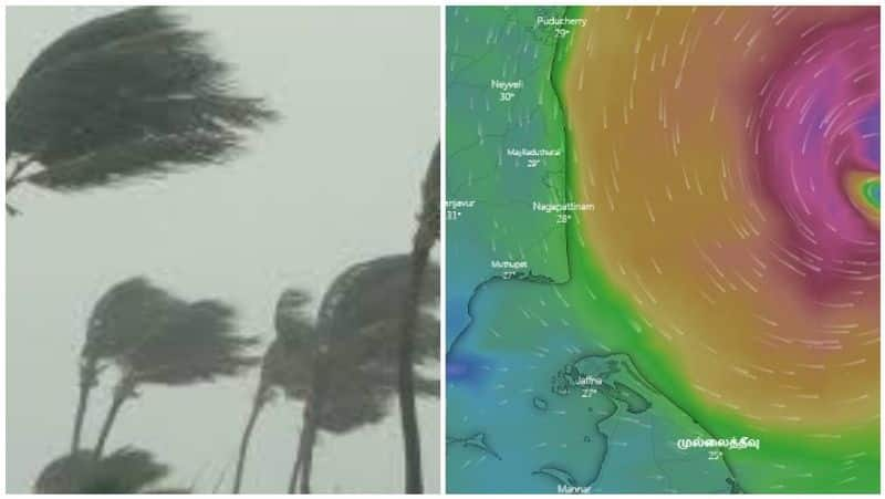 wind range will be heavy in bay of bengal and sothern tamil nadu