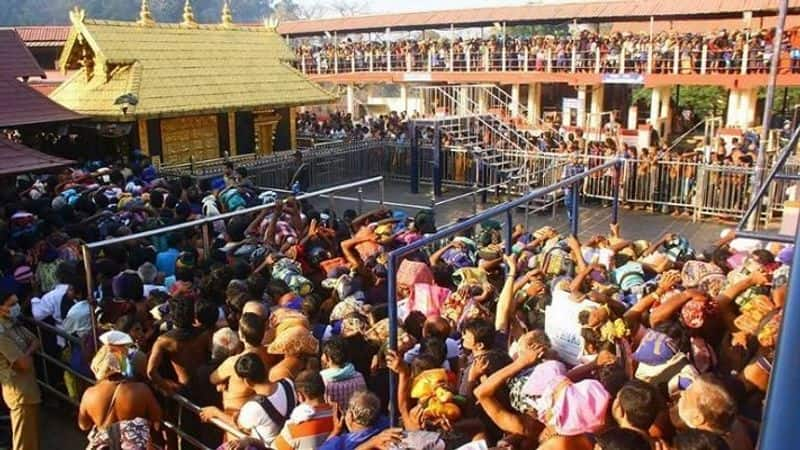 Heavy rush at Sabarimala shops and hotels near the temple complex were open