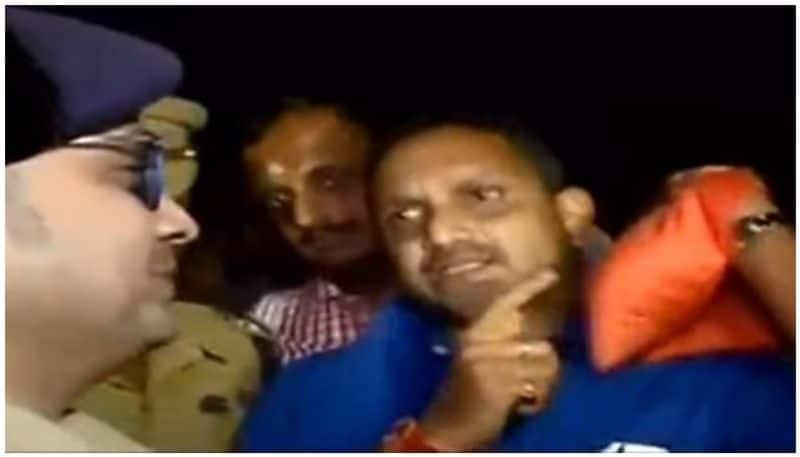 KP Sasikala BJP K Surendran detained Sabarimala