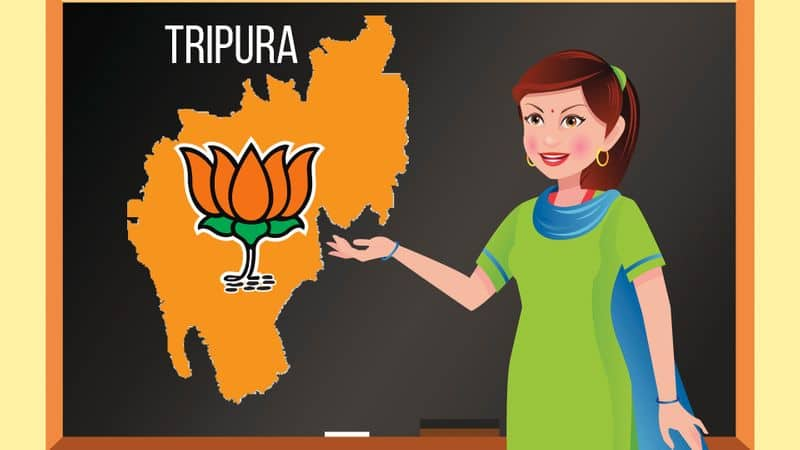 Tripura school note BJP left saffronisation CPM