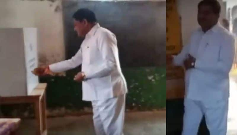 Chhattisgarh Minister Performs Puja Inside Polling Booth Served Notice