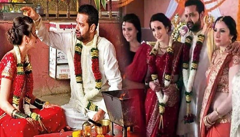 43 Year old rahul mahajan tie knot third time with 25 year old model