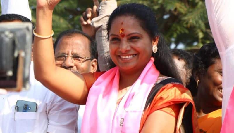 mp kavitha responce on congress alegations over evm tampering