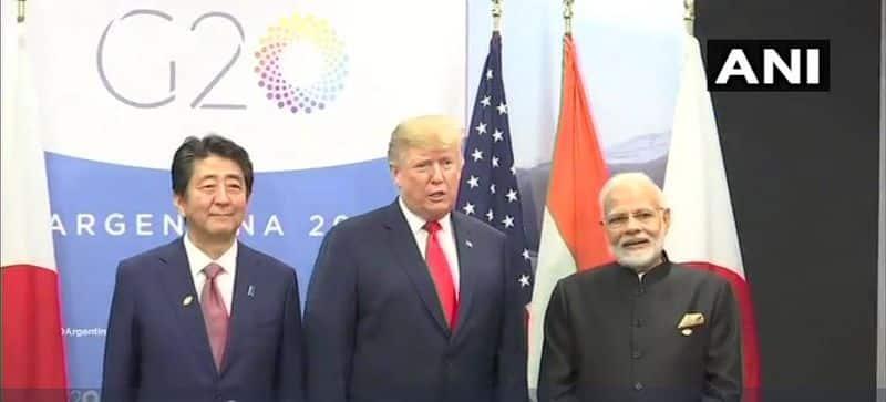 PM Modi meets Trump-Abe in G-20