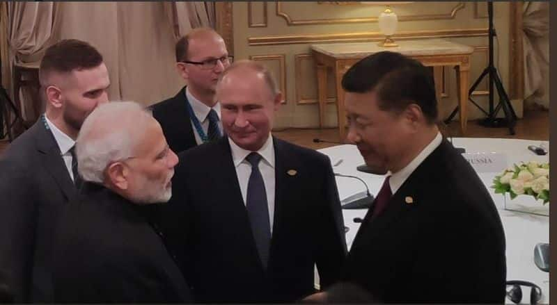 PM Modi meets leaders from Russia and China