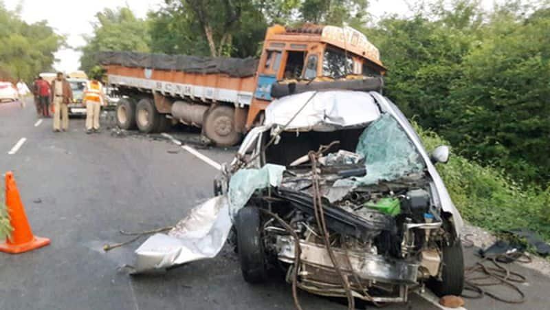 Andhra Pradesh car Accident...family killed