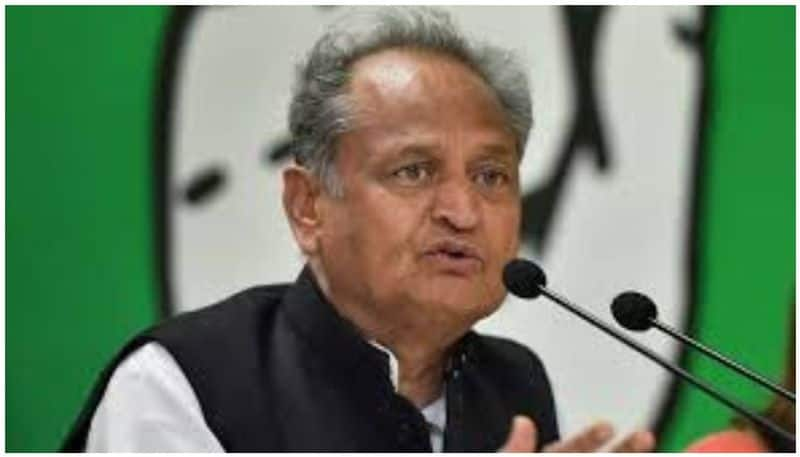Ashok Gehlot chief minister of Rajasthan with Sachin Pilot as deputy