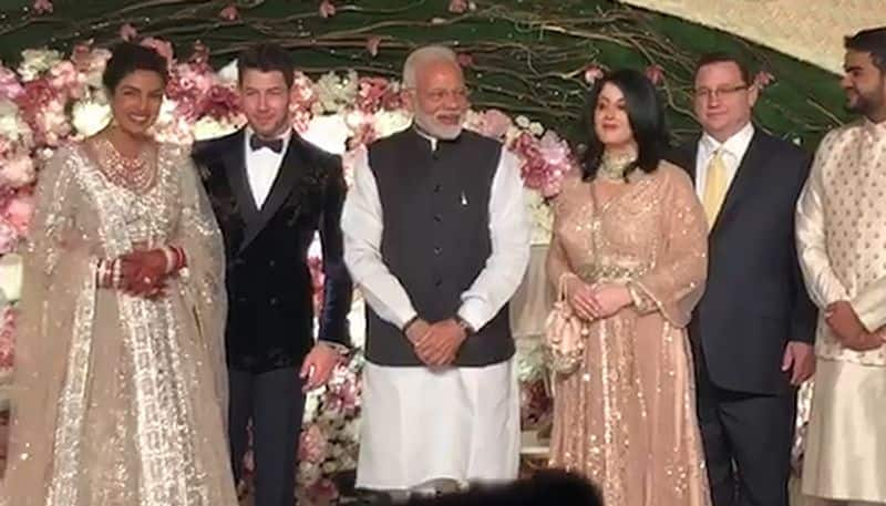 PM Modi at Priyanka Chopra, Nick Jonas wedding reception