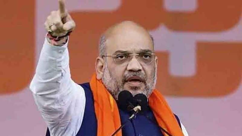 BJP is committed for Ram temple in Ayodhya says Amit Shah, attacks Mahagathbandhan