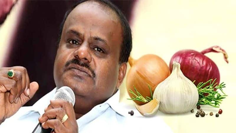Kumaraswamy Congress govt forcing ISKCON to use onion garlic in midday meal