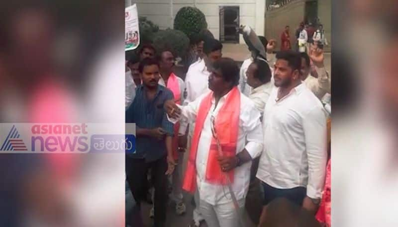 trs party leadars celebrations