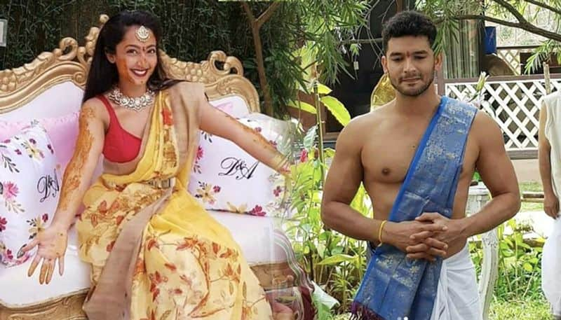 Diganth Manchale, Aindrita Ray's wedding pictures and videos