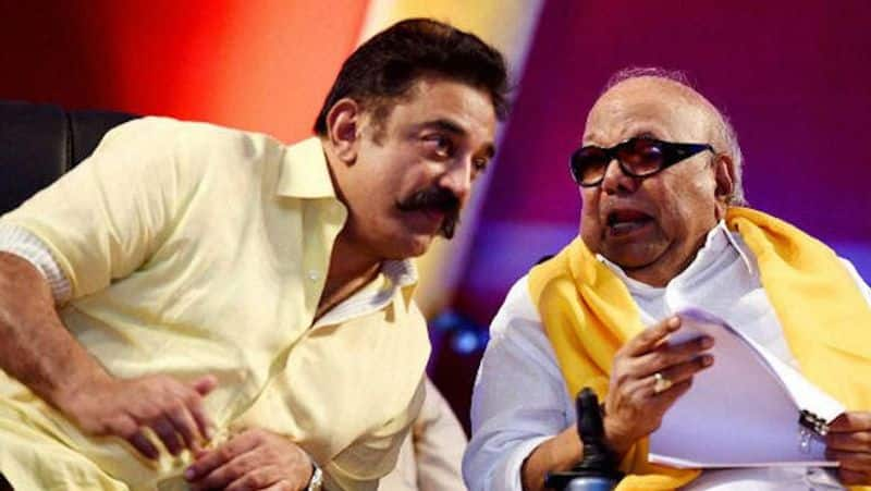 Karunanidhi can not come to the opening of the statue...kamal