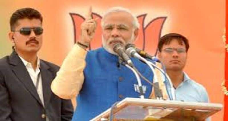 Modi target on Cong, He is standing with anti india force