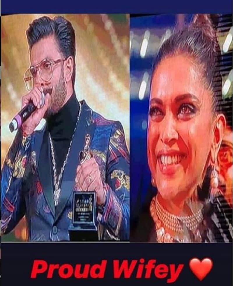 ranveer sing deepika in star screen award