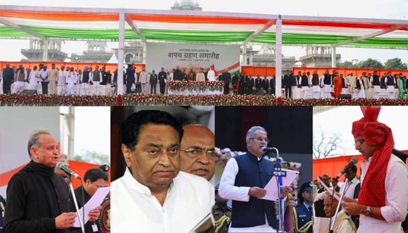 Congress CMs to take charge in three states