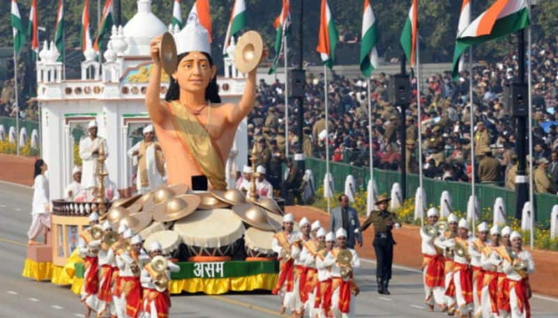 Assam Gandhi theme tableau Republic Day parade rejected misrepresentation