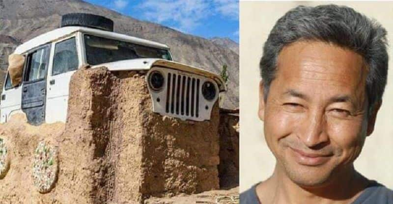 Real-life Phuntsok Wangdu from 3 Idiots now builds a house from a jeep