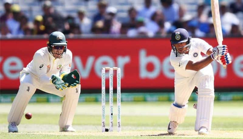 Melbourne Test Mayank Agarwal hits maiden Fifty on his Debut Match