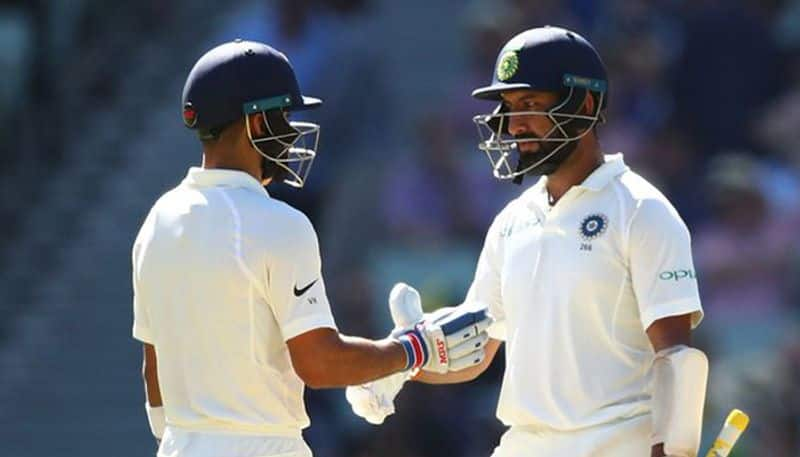 pujara hits century but kohli missed it and india in a strong position against australia