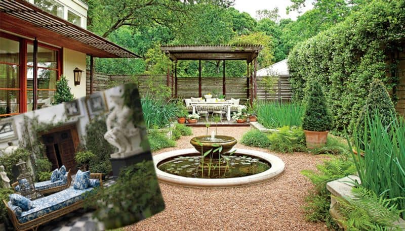 How to keep garden and courtyard attractive