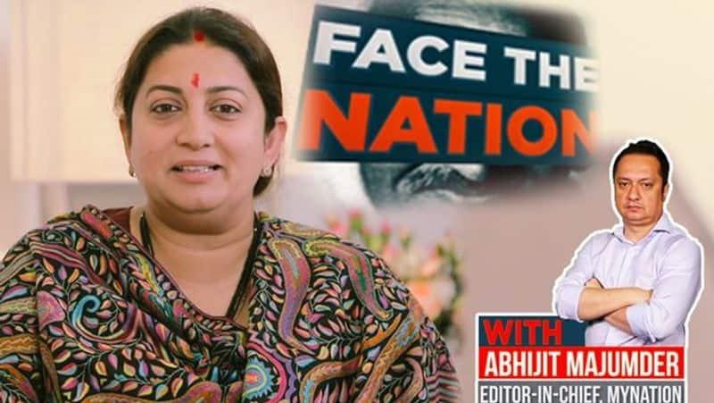 smriti irani exclusive interview on My Nation with Editor in chief, dislosed stratagy of 2019