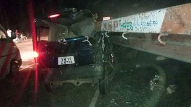vellore car accident... 6 people killed