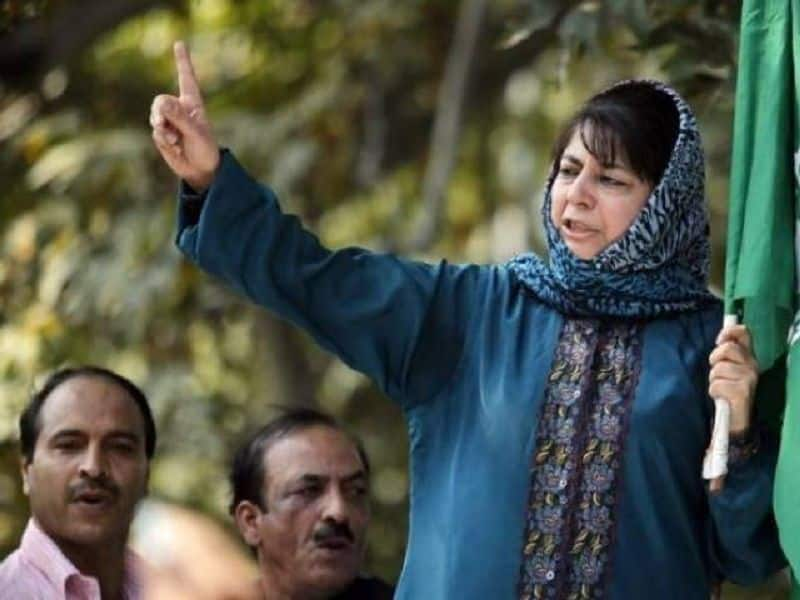 PDP President Mehbooba Mufti Backs Pakistan on Nuclear button bluff