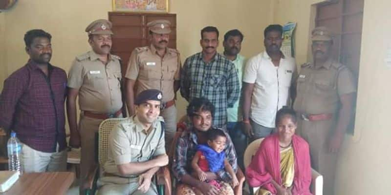 after 3 months babe harini found in kancheepuram and parents  very happy
