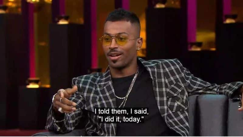 Comments on Koffee with Karan Hardik Pandya responds to BCCI show cause notice