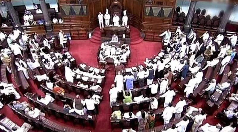 Rajya Sabha adjourned an hour due Karnataka crisis