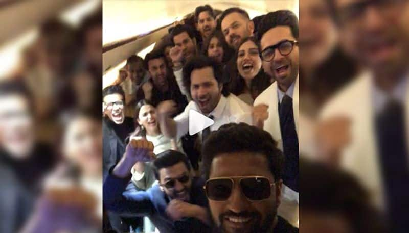 URI: Vicky Kaushal promotes his film with an airplane full of Bollywood celebs
