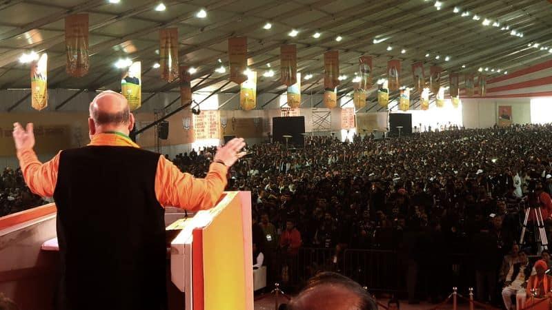 'UPA vs NDA' dominates Amit Shah speech at BJP national convention