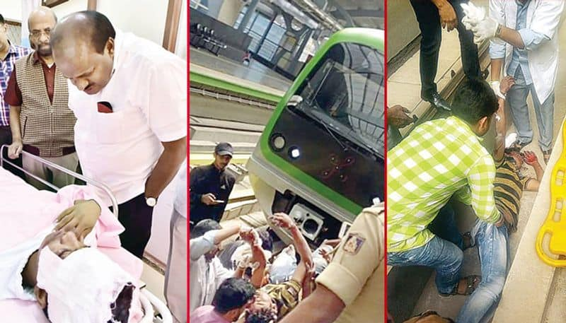 This is how the student saved after jumping on namma metro electric track
