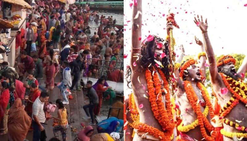 prayagraj: in kumbh mela juna akhada give diksha to 60 naga sanyashis