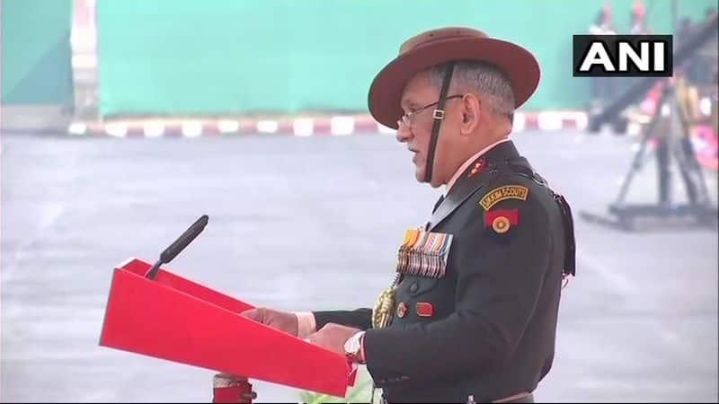 Army chief threaten Pakistan on Army Day