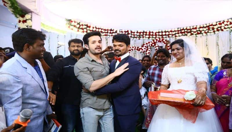 Akhil Akkineni attended his Personnel Staff Mouses Marrigage