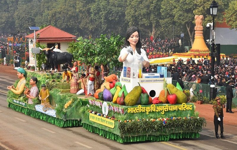 Second time ICAR Tableau in republic day in Indian freedom history