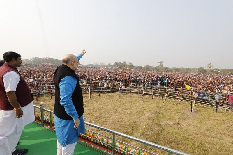 Bjp chief unwell, could not address to worker in jhargram rally today in west Bengal