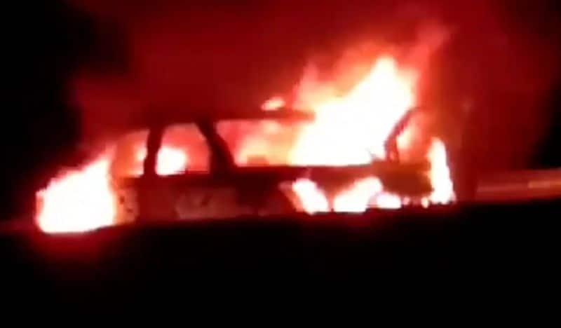 11 Mercedes Benz Burned In Work Shop At Kozhikode