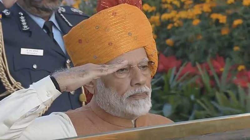 PM Modi turban was center of attraction on this republic day celebration