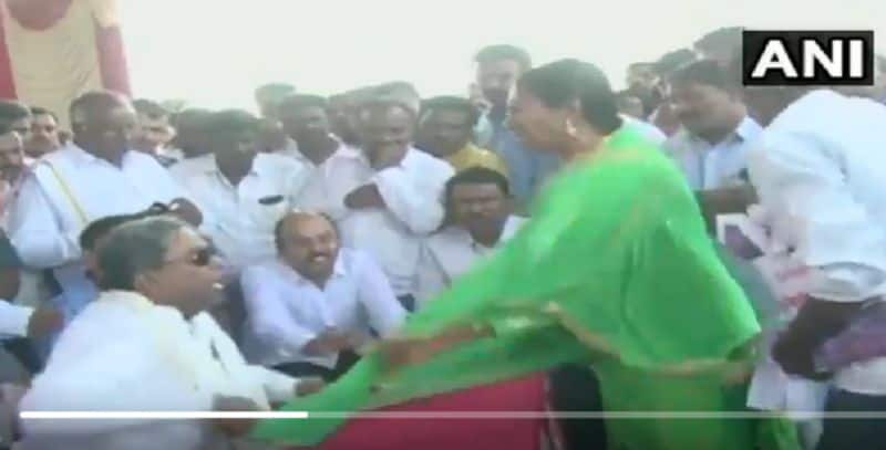 Karnataka ex CM Siddharamaiyya misbehaved women
