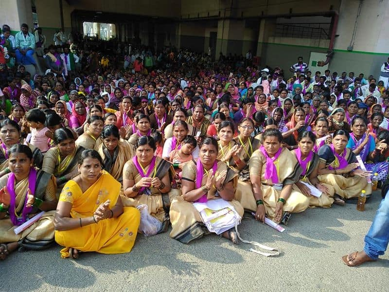 Liquor ban demand thousands women march Bengaluru various parts of Karnataka