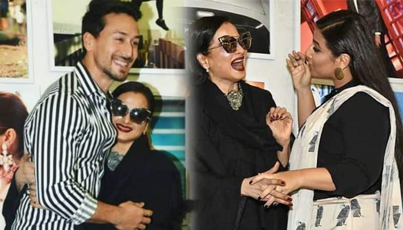 LOL moment: Rekha reaction to posing with Amitabh Bachchan's poster