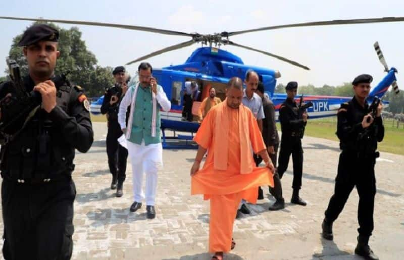 Mamta Banerjee government declined permission landing yogi helicopter in state