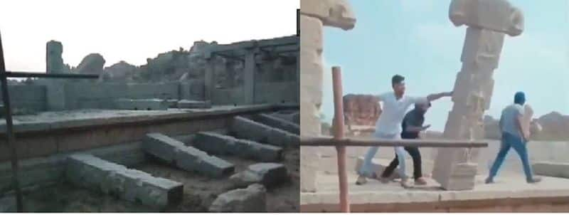 Notorious people who dropped Hampi pillar are still not arrested