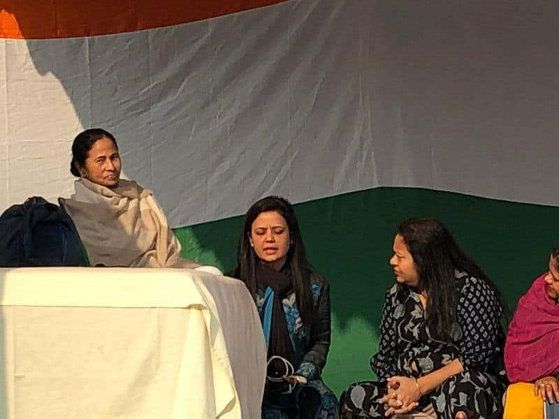 Mamta stage protest in Kolkata, opposition supporting her, bjp blame for politicized matter