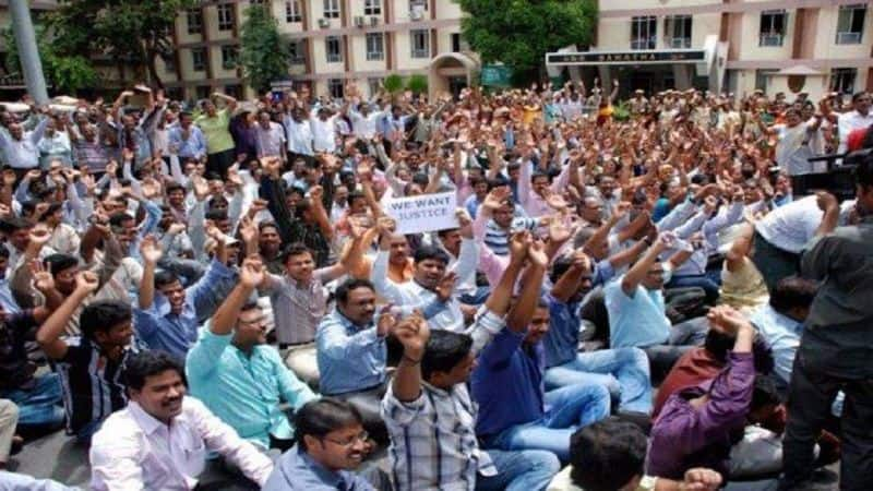UP state employee went to strike, services effected in state